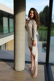 Evening mini dress in Ivory - jqwholesale.com
