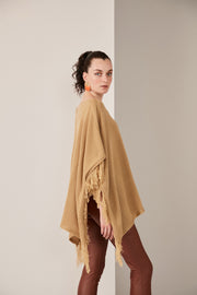 Oversize Pancho with Fringe - jqwholesale.com
