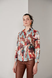 Oversize Top/Shirt in Red print - jqwholesale.com