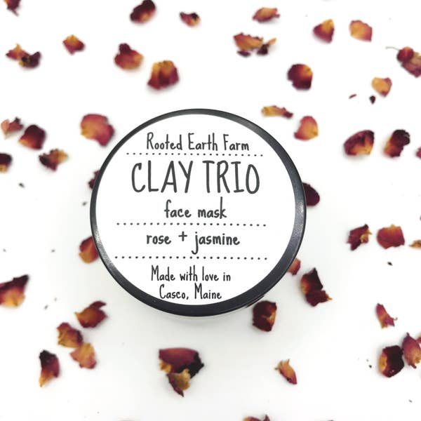 Clay Trio Rose + Jasmine Face Mask