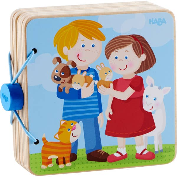 Wooden Baby Book Animal Friends