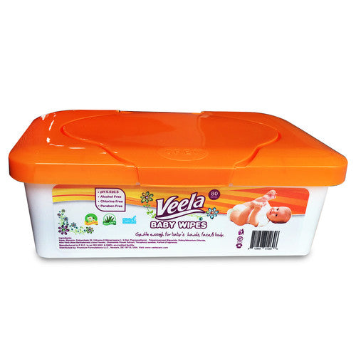 Veela Tub Baby Wipes 80 ct