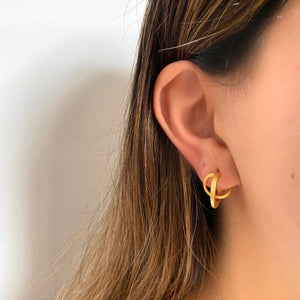 Everyday Double Hoop Earring