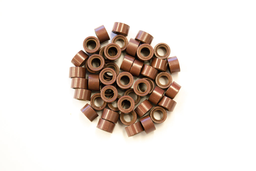 Brown Silicone Beads