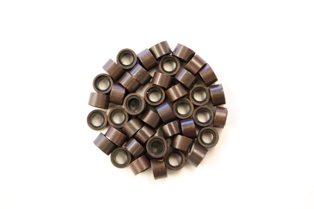 Dark Brown Silicone Beads