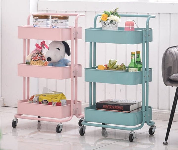 Storage Trolley Cart (White)