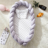 Double Braided Baby Nest Style with Mattress, Bumper and Pillow (4 colors) - Shades of Gray (for pre-order)