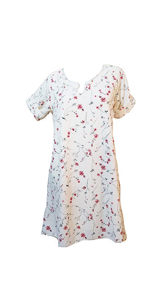 Meilleur White Floral 4 Dress (M) - #MWF4D