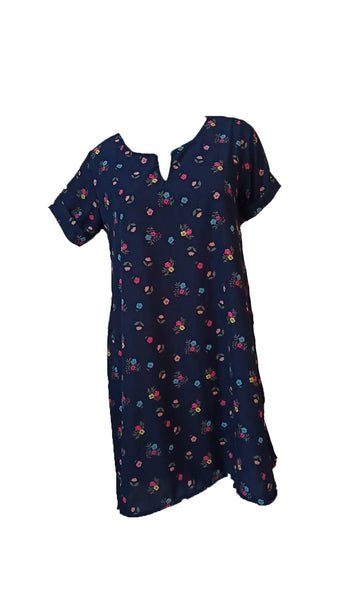 Meilleur Blue Floral Dress (M) - #MBPBF