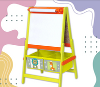 Multifunction Easel (Whiteboard, Blackbord, Paper roll and 2 cloth bins)