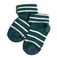 Biofresh Socks Blue/Green DENIM (0-6 mos) 1 pair RIBC9110