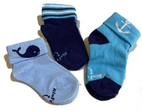 Biofresh Socks Asstd 3pcs in 1 pack (0-6 mos) RIBC9102