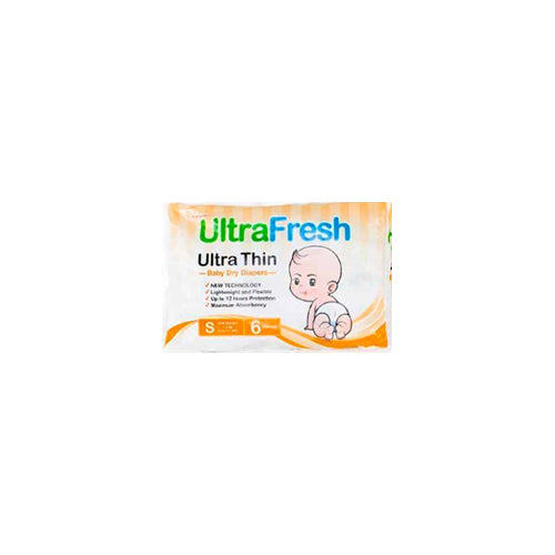 Ultrafresh Ultrathin Baby Diapers S (4 to 8kgs) 6 pcs