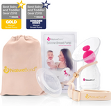 NATUREBOND SILICONE BREAST PUMP WITH SILICONE STOPPER (FREE POUCH)