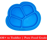 Anti-Slip Silicone Dish Plate (4 colors)