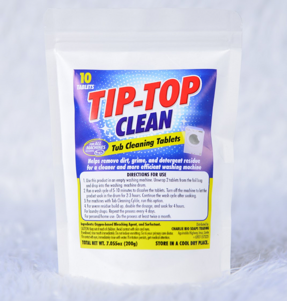 Tip-Toe Tub Cleaning Tablets for Washing Machine (10 tablets)
