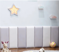 Grey & White Wall Padding for Kid's Room