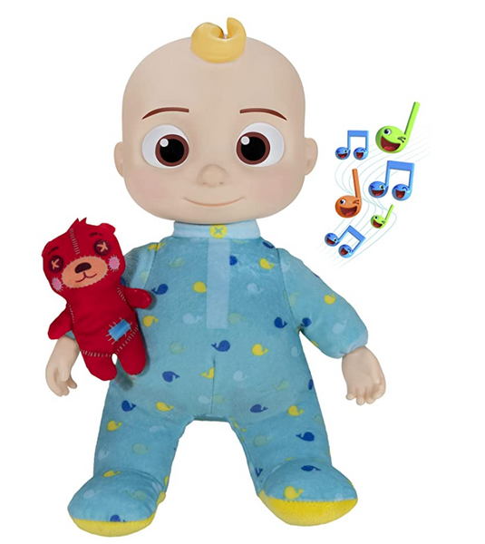 Cocomelon Musical Bedtime JJ Doll, Soft Plush Body