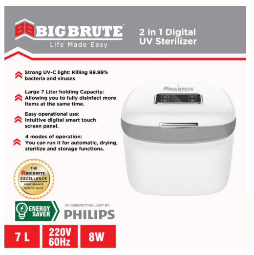 Big Brute UV Sterilizer and Dryer Cabinet Portable