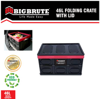 Big Brute Collapsible Folding Storage Crate 46L