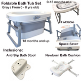 Foldable Bath Tub Set ( Blue, Pink and Gray)
