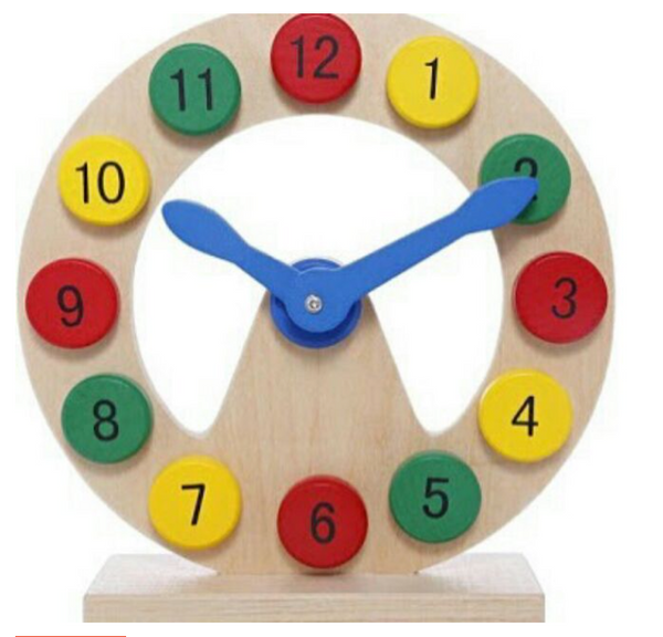 Wooden Toy Digital Clock Educational Toy Toddler