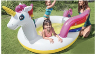 Intex 57441NP Inflatable Mystic Unicorn Swimming Pool Floater with Water Spray