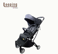NEW Looping Squizz 3.0 Stroller Grey (Folds w/ 1 hand)- Black
