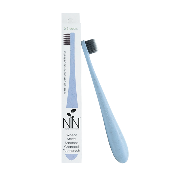 Nature to Nurture Wheat Straw Bamboo Charcoal Infant Toothbrush (0-3years old)