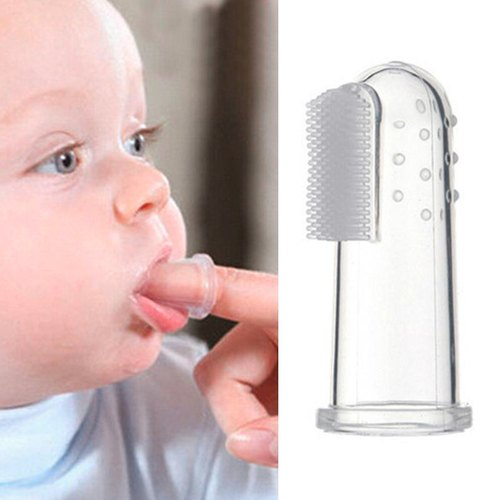 Soft Silicone Baby Finger Toothbrush Teeth Clear Brush for Mom Baby Clear Teeth and Gums Toothbrush