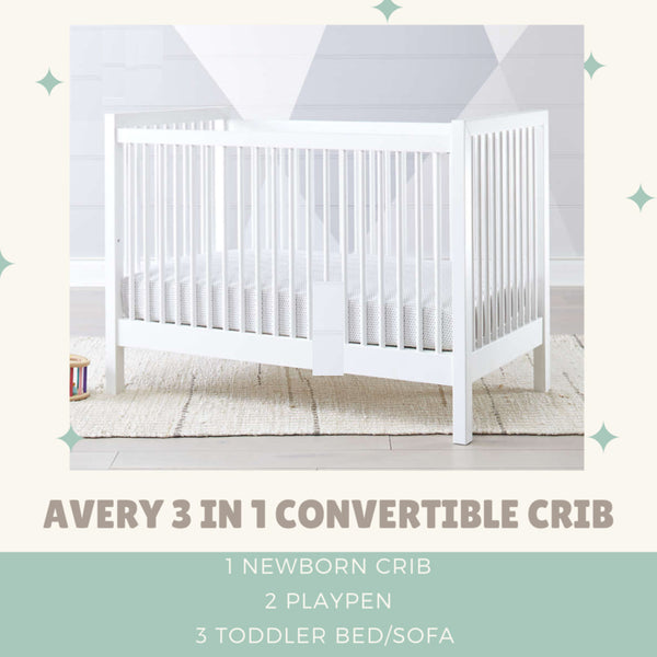 Avery 3 in 1 Convertible Standard Crib (Frame Only)