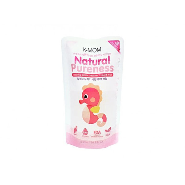 K-Mom Natural Pureness Bottle Cleanser 500ml refill