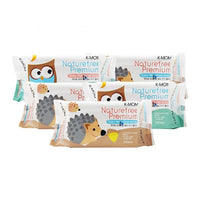 K-Mom Natural Pureness Premium Baby Wipes with Sticker 100s - BUNDLE OF 5