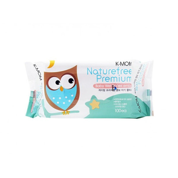 K-Mom Natural Pureness Premium Baby Wipes with Sticker 100s