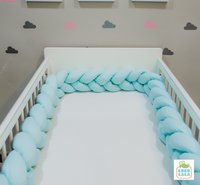 Crib Braided Bumpers- Shades of Gray