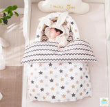 Coco Lala Pillowdy Babynest Star Collection- White/Beige