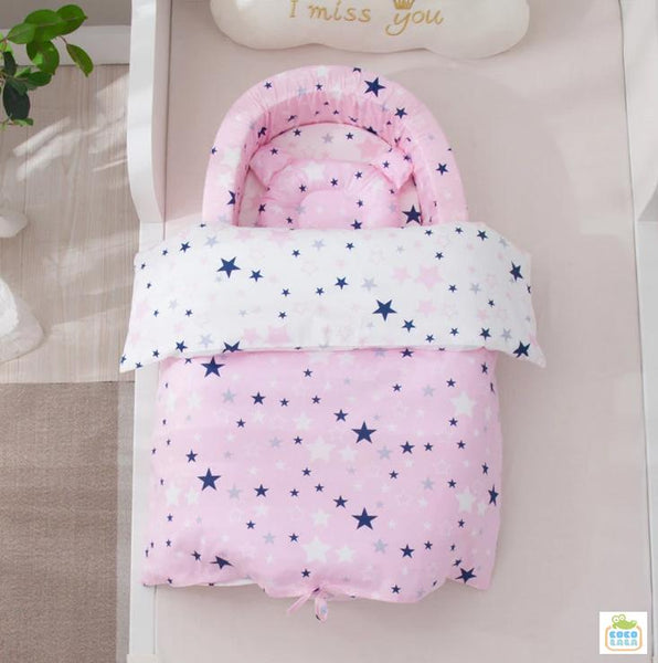 Coco Lala Pillowdy Babynest Star Collection- Pink