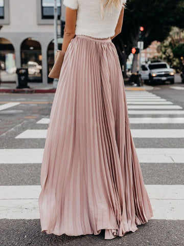 Cotton Vintage Street Fashion Maxi Length Skirt