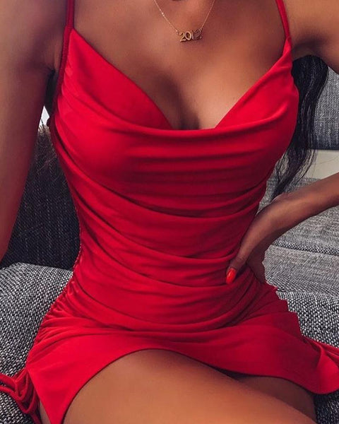 Low Cut Bodycon Cami Dress