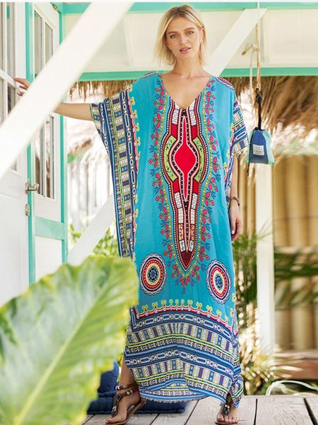 Women's South American style printed casual fashion dress
