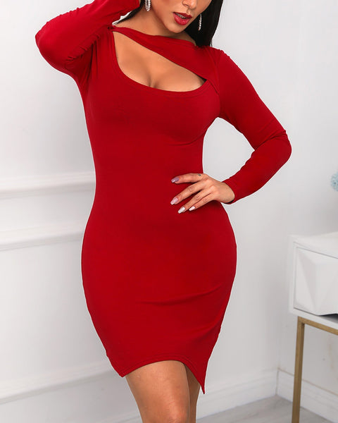 Chest Cut Out Bodycon Dress