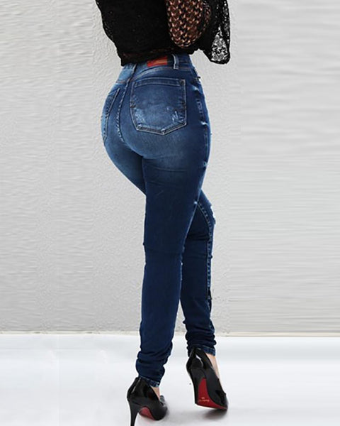 Skinny Pencil High Waisted Jeans