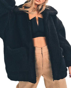 Autumn/Winter Fleece Sweater Faux Fur Fluffy Coat