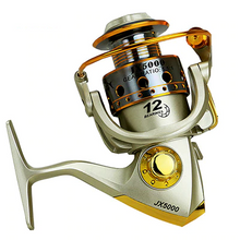 Load image into Gallery viewer, Hot  wheels fish spinning reel 5.5:1 12Ball Bearing 1000-7000series