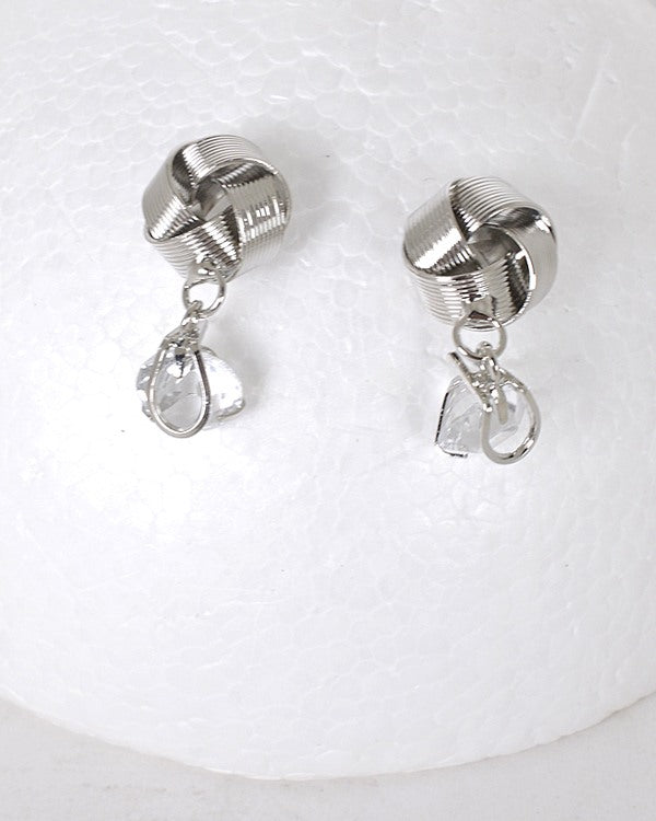Textured Metallic Drop Earrings id.31571