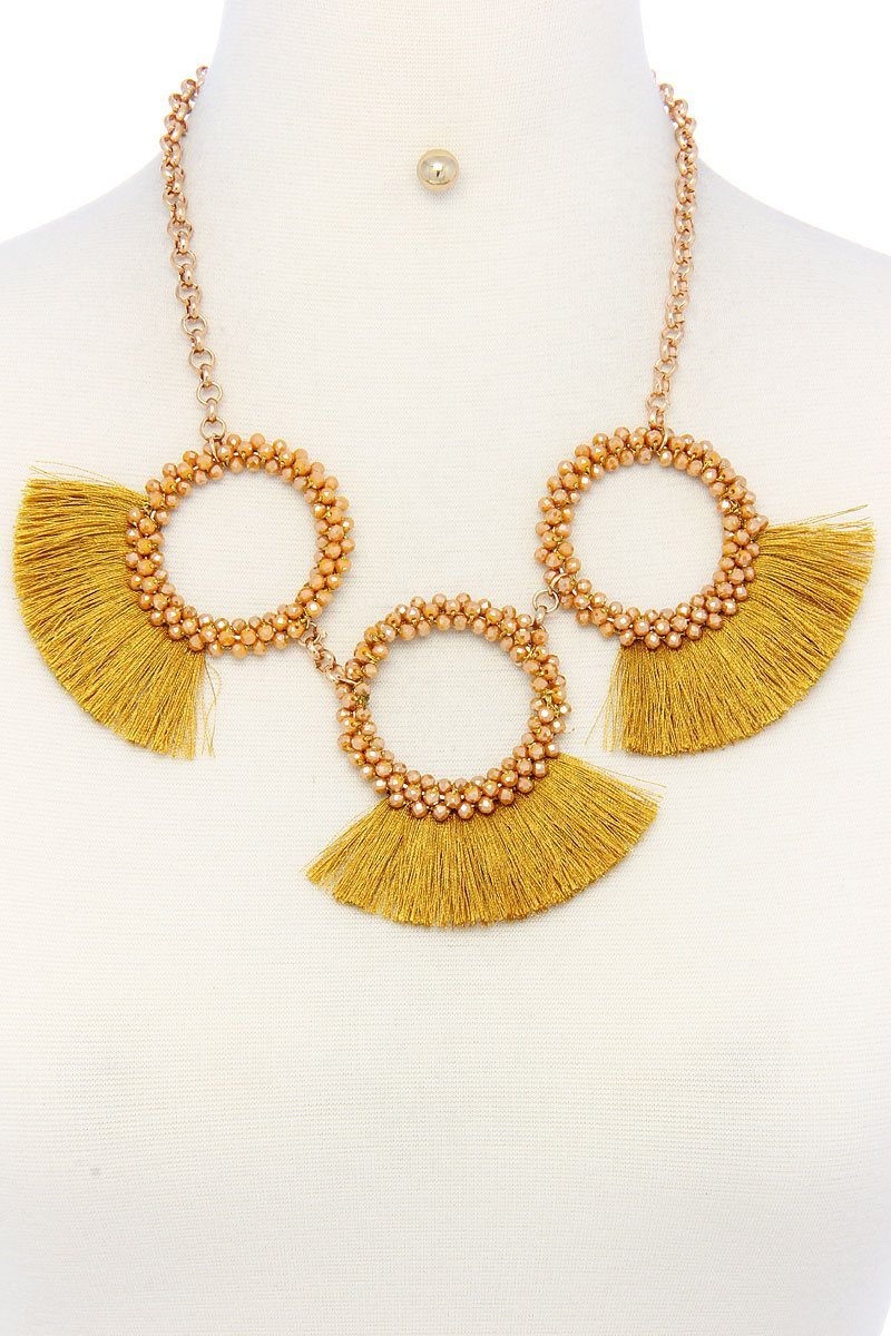 Fashion chunky stylish necklace and earring set