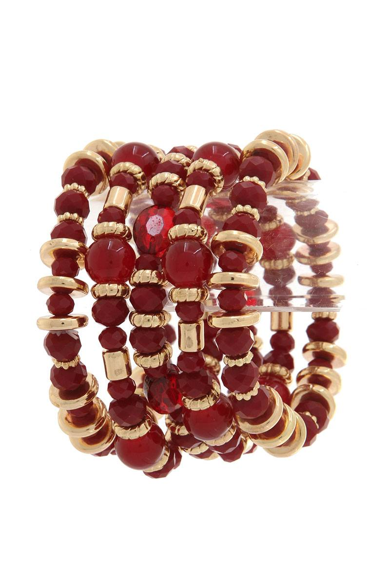Beaded stretch bracelet