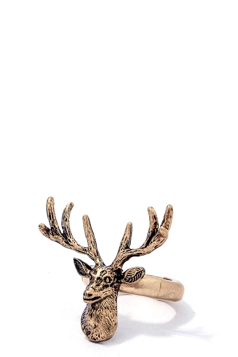 Chic modern stretchable deer ring