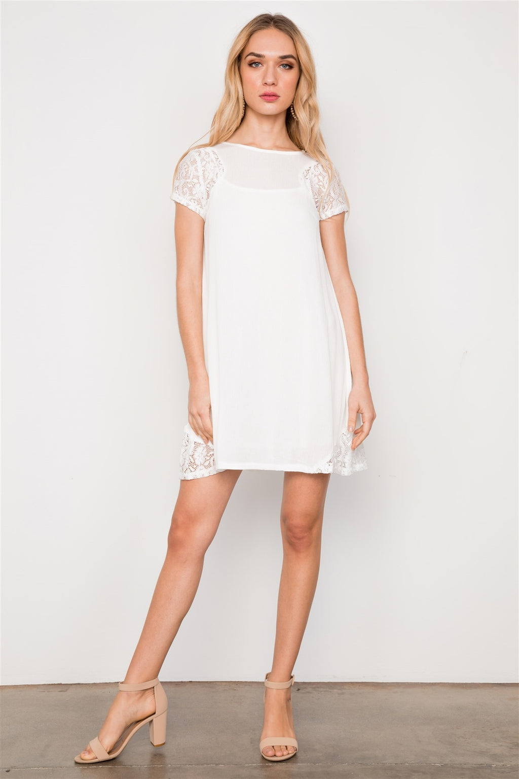 Lace Short Sleeves Dress Tunic Boho
