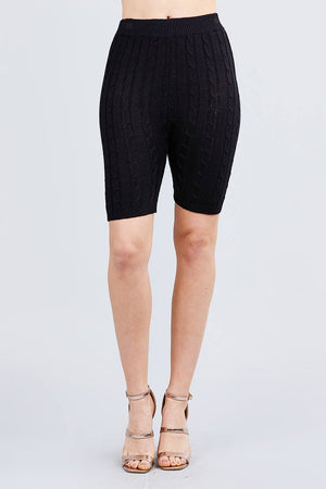 Twisted Effect Bermuda Length Sweater Shorts